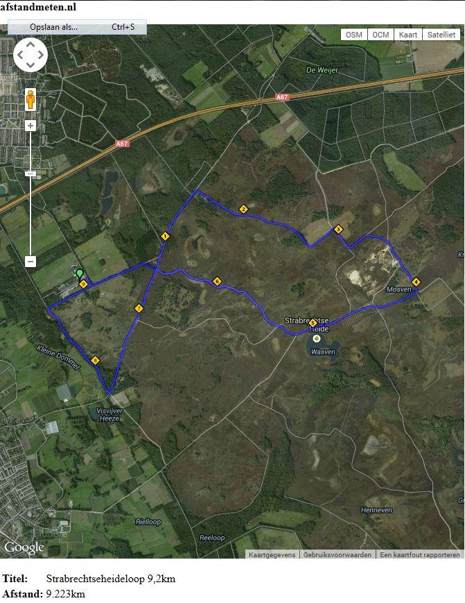 Route 9,2km wandelen